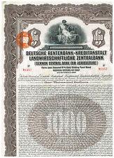 Deutsche Rentenbank-Kreditanstalt...1927, 1000$ Gold Bond
