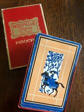 Vintage Nouvelle Pinochle Playing Cards Lady on Horse