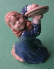Royal Copenhagen Children Little Girl Cymbal Pot-Cover Danish Porcelain Figurine