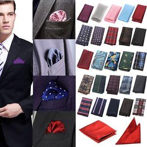 NEW Mens Satin Hankie Handkerchief Pocket Square Various Colours Free P&P