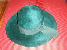Vintage Green Hat Felt Mohair Brigitte Francois Italy Size 22 Costume St. Patty