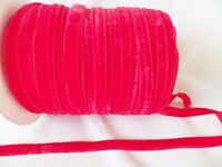 5m x 10mm Velvet Ribbon : BRIGHT RED