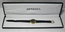 Movado Gold Electroplated Bezel Wind up Watch 20.0510.305 w/Movado Case