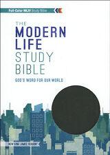 NKJV Modern Life Study Bible, Leathersoft, black/gray