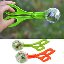 Outdoor Plastic Bug Insect Catcher Scissors Tongs Tweezers For Kids Children NEW