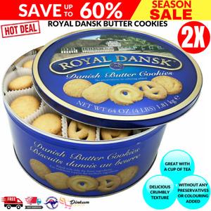 Royal Dansk 2 X 1.81KG Danish Butter Cookies Sweet Biscuits 3.62KG Total 2xTINS
