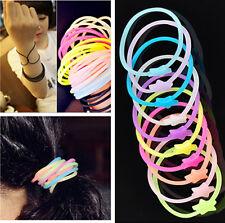 10PCS Glow Gummy Loom Rubber Hair Band DIY Wristband Bracelet Fashion Making