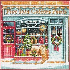 Counted Cross Stitch Kit COFFEE SHOPPE Christmas Dimensions Gold Collection NEW!