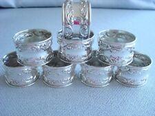 GORHAM MELROSE sterling silver ~ NAPKIN RINGS SET OF 8 ~ REPOUSSE  FABULOUS!!