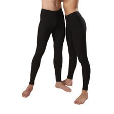 Angora Wool Blend Unisex Black Thermal Long Johns For Men / Women SIZE 2XL Pants