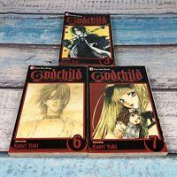 Kaori Yuki Godchild Volumes 3, 6 &7 Manga Lot in English. Shojo Beat Manga