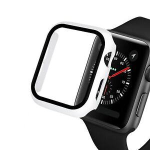 Glass+case For Apple Watch series 6 SE 5 4 3 2 1 bumper Screen Protector+cover