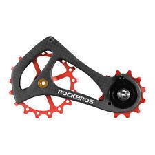 RockBros Bike Rear Derailleur Cage Pulley Carbon Fiber 17T SRAM Di2 Red