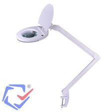 Lámpara con lupa para manicura o bricolaje Lente 5 dioptrías Brazo regulable