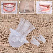 Silicone Anti Device Tongue Guard Nose Clip Snore Night Sleep Stopper Tray Kit