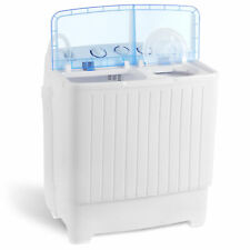 17.6Lbs Portable Washing Machine Mini Compact Twin Tub Laundry Washer Spin Dryer