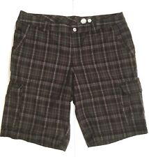 McKinley Mens Cargo Shorts XL Gray Multi Casual Outdoors Hiking Weekend