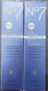 Boots No 7 Lift & Luminate Triple Action Serum for wrinkles - Lot of 2 - new