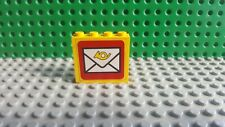 LEGO BRICK 1 X 4 X 4 WITH POST STICKER FOR SET 6362 POST OFFICE (1982)