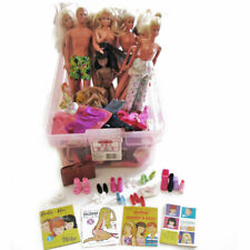 Barbie Mixed Lot 13 Different Barbie Dolls 1 Ken Doll Clothes, Shoes Booklets