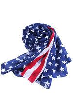 Umhang Dame Schal USA-Flagge Chiffon lange Schal Halstuch Stola  K9S2