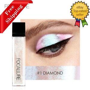 FOCALLURE 14 Liquid Glitter Glow Pigment Eyeshadow Shimmer Waterproof Eye Makeup