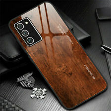 For Samsung S20 FE S21 Ultra Note20 Shockproof Pattern Tempered Glass Case Cover