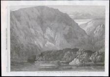 1869 Antique Print - CHILE STRAIT MAGELLAN HMS NASSAU PLAYA PARDA COVE (075)