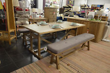 Revival Finchley Table and 2 Dining Benches with Cushions Willis & Gambier NEW