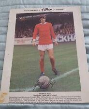 1969/70 GEORGE BEST - MANCHESTER UNITED  (TYPHOO TEA CARD)