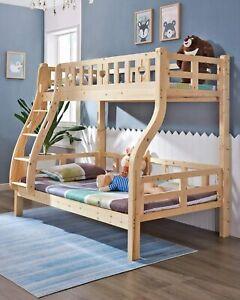Etagenbett Kinderbett Massives Kiefernholzbett Hochbett für Zuhause, Wohnung