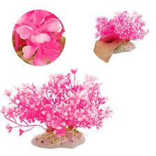 Planta de agua artificial terrario acuario decorativas pescado Tank ornament 12 x 15cm