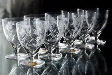 ANCIENNES 10 verres digestif en cristal taille grave  VILLEROY ET BOCH