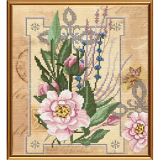 Cross Stitch Kit Flowers of tenderness HHD 4071