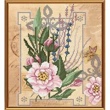 Cross Stitch Kit Flowers of tenderness