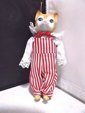 VINTAGE  CHRISTMAS  DECOR  CAT DOLL CERAMIC HEAD AND PAWS   6''
