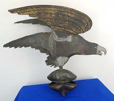 "Antique Primitive Eagle Copper Weathervane Topper - 1`9"" Long -  Estate Find"