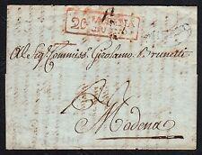 PREFILATELICA LOMBARDO VENETO 1808 da Milano a Modena