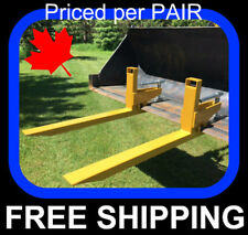 """PAIR of clamp on to bucket Pallet Forks, 2000 lb capacity, 32"""" usable"""
