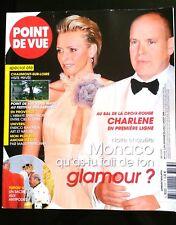 Point de Vue 6/8/2008; Charlène et Albert au Bal de la croix rouge/ Tupou V