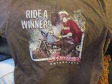 Super Soft Brown INDIAN MOTORCYCLES Ride A Winner T Shirt XL