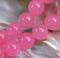 "8mm Natural Pink Alexandrite Round Loose Beads Gemstones 15"" AAA Top Grade"