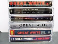 Great White Cassette Tapes Lot Of 6 live best psycho hooked once twice 1g