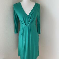 Old Navy Women's Sheath Dress Green Size Small V-Neck Faux Wrap Crossover