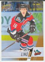 2017-18 Upper Deck CHL RAINBOW ROOKIE RC Kole Lind  #99