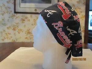 Handmade MLB Atlanta Braves Surgical Scrub Hats