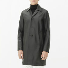 Sandro Paris Crawley Leather Coat  size:SMALL