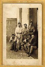 Cpa Carte Photo 243e RI infanterie réserve de Lille Emile Guérin m0143