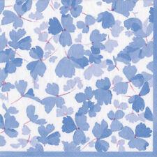 Blue Spring winds Floral Caspari Paper Lunch Napkins 33cm sq 20 pack