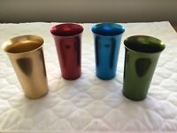 Vintage Aluminum Tumblers by Color Craft 4 Colors